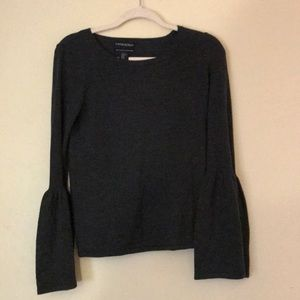 Cynthia Rowley Gray Statement Sleeve Sweater
